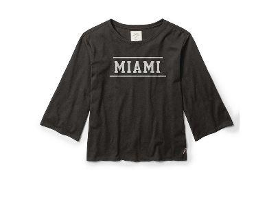 Miami Logo Long Sleeve Top