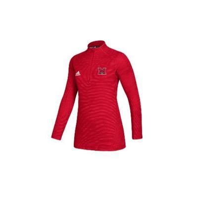 Miami Adidas M Logo Half Zip Pullover