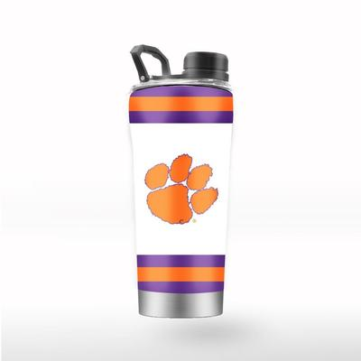 Clemson GTL 24 oz Striped Shaker