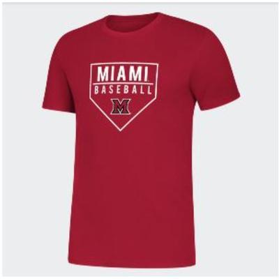 Miami Adidas Baseball Tee