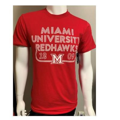 Miami Retro Red Hawks Tee