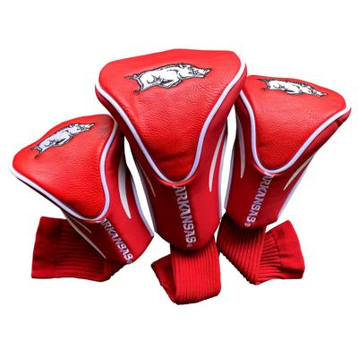 Arkansas 3 Pack Contour Golf Club Head Covers