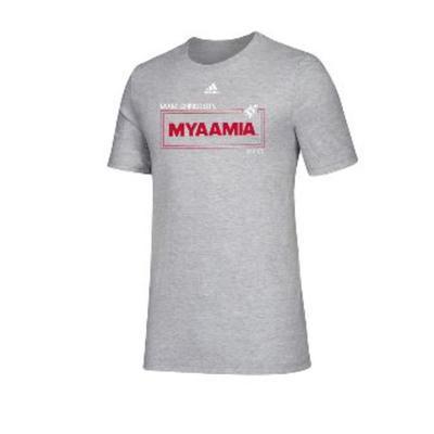 Miami Adidas Myaamia Heritage Collection Short Sleeve Tee
