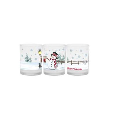 Miami Frosted Snowman 14 oz Glass