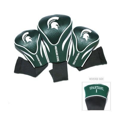 Michigan State 3 Pack Contour Golf Club Head Covers