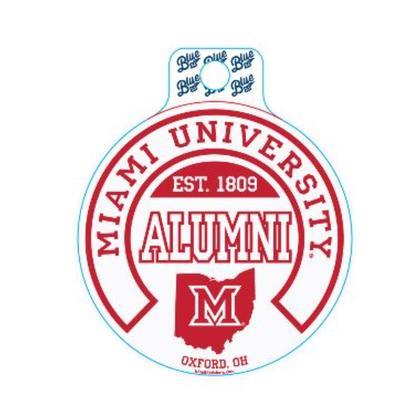 Miami Blue 84 Alumni Decal