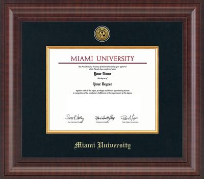 Miami Premier Diploma Frame with Medallion