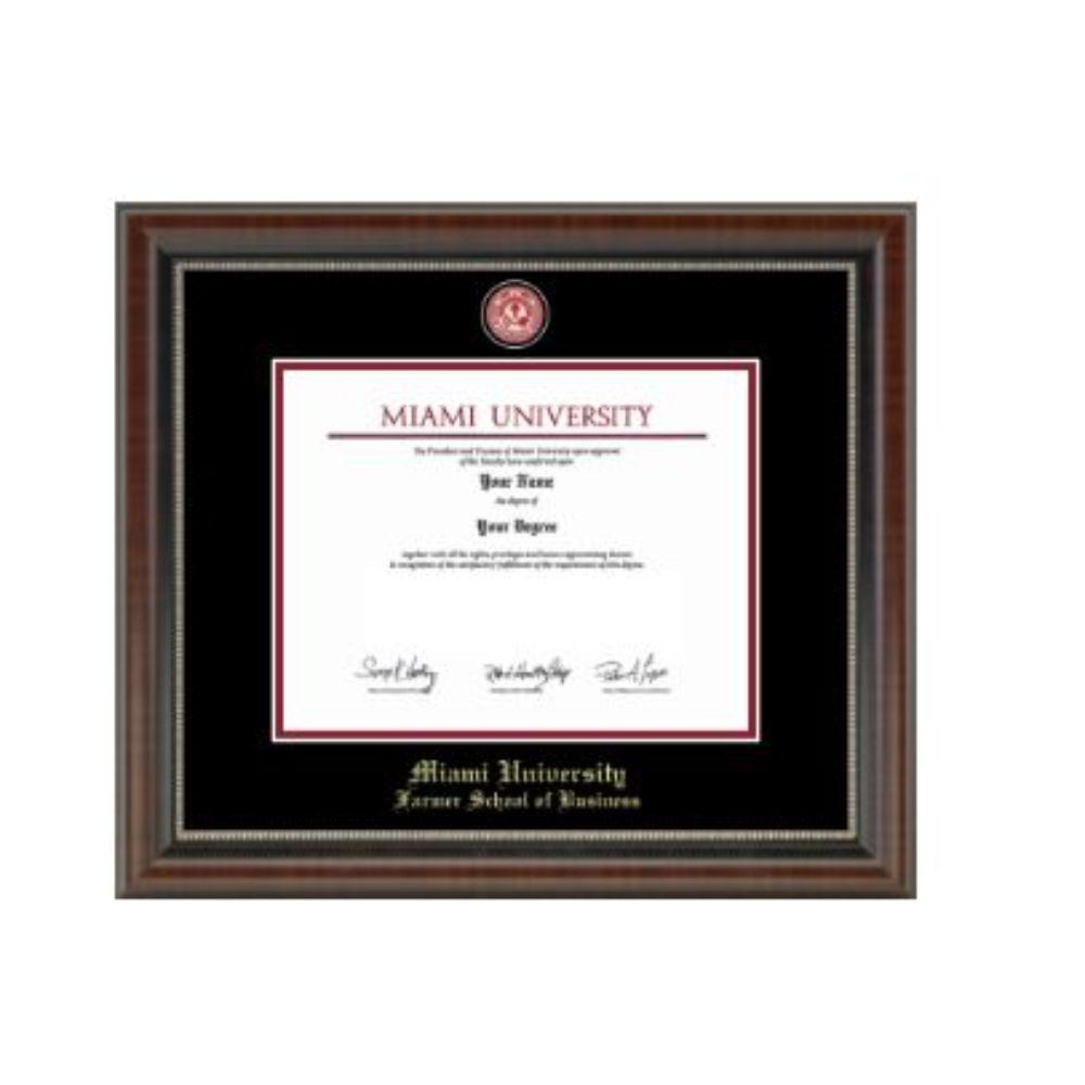 Miami Masterpiece Farmer School Of Business Diploma Frame