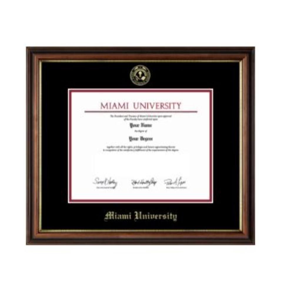 Miami Regency Gold Diploma Frame