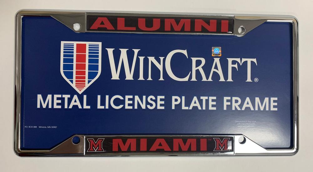 Miami Alumni License Plate Frame