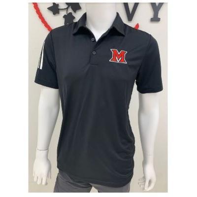 Miami Adidas 3 Stripe Polo