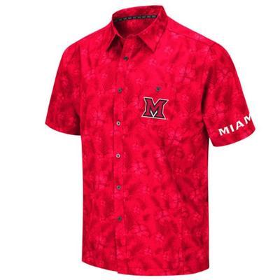 Miami Colosseum Hawaiian Button Up Shirt