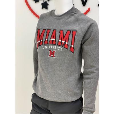Miami Bleeker Raglan Crewneck Sweatshirt