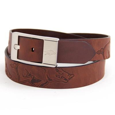 Arkansas Eagles Wings Brandish Leather Belt