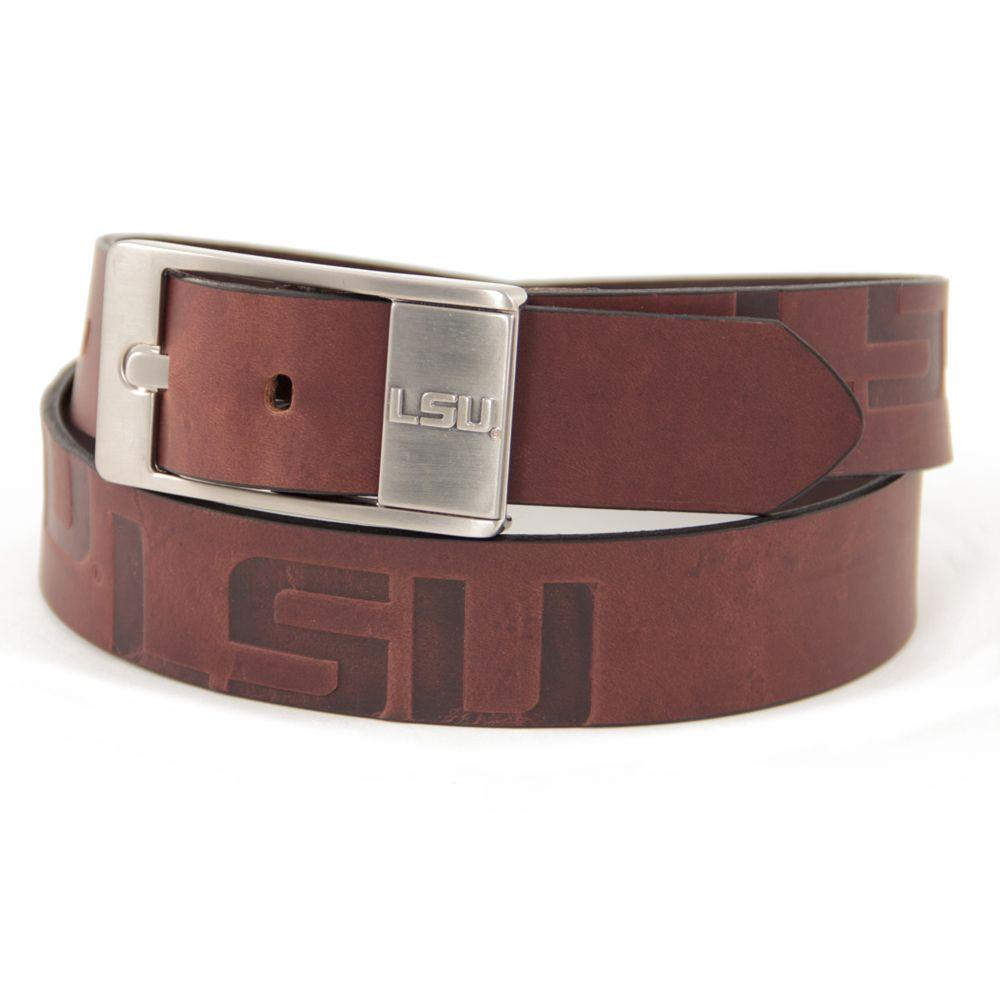 Lsu Eagles Wings Brandish Leather Belt