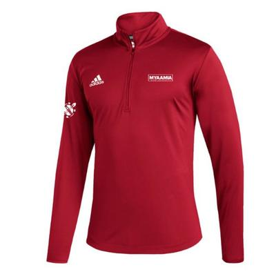 Miami Adidas Myaamia Heritage Collection Under the Lights Quarter Zip Pullover