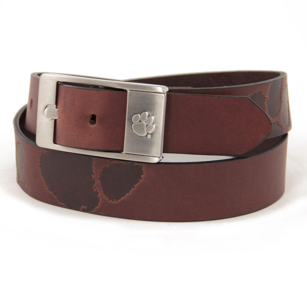 Clemson Eagles Wings Brandish Leather Belt