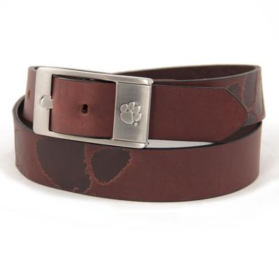 Clemson Eagles Wings Brandish Leather Belt
