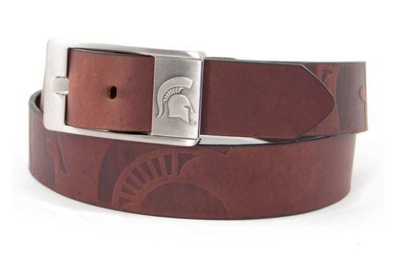 Michigan State Eagles Wings Brandish Leather Belt