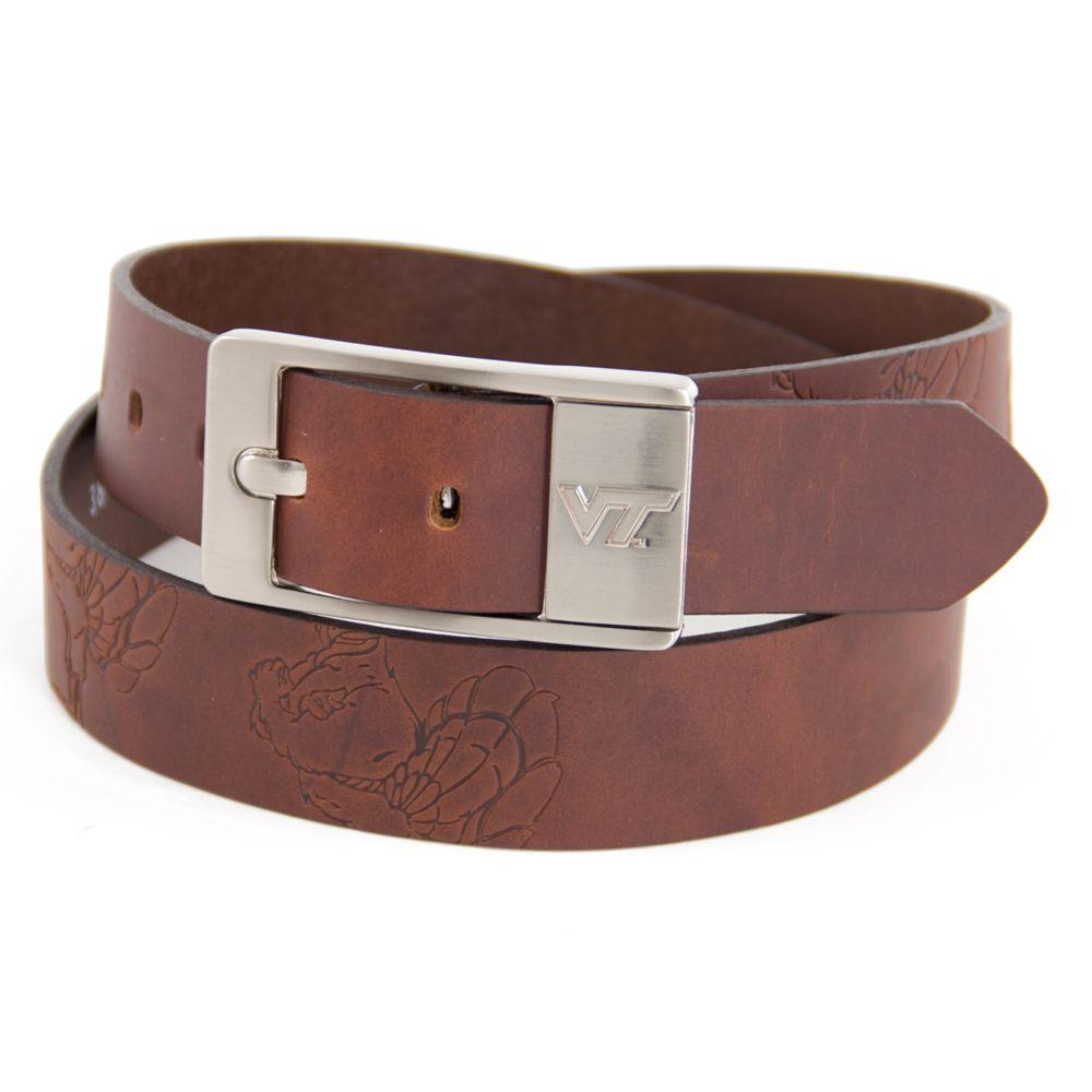 Virginia Tech Eagles Wings Brandish Leather Belt