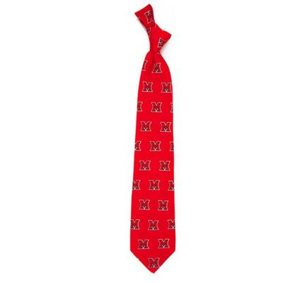 Miami Eagle Wings Repeating M Tie