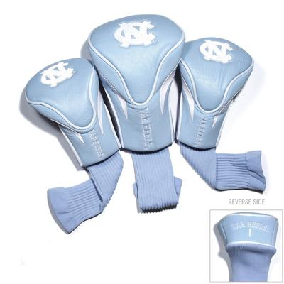 UNC 3 Pack Contour Golf Club Head Covers