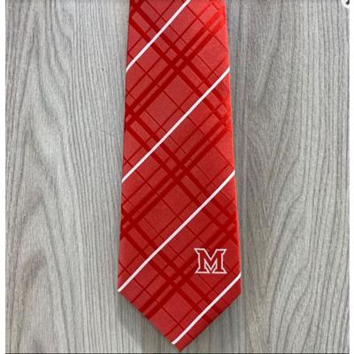 Miami Eagle Wings Red and Silver Tie