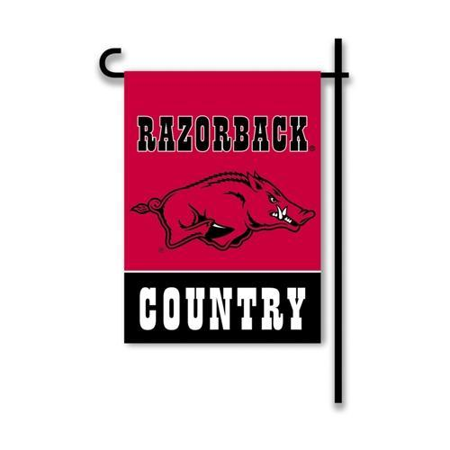 Arkansas Razorback Country Two- Sided Garden Flag 13