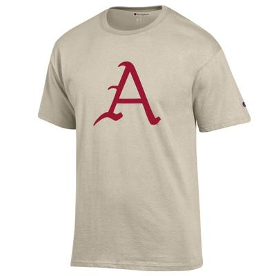 Arkansas Champion Men's Giant Logo Script A Tee
