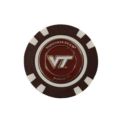 Virginia Tech Single Golf Chip W/ Marker