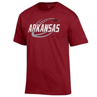 Arkansas Champion Men's Football Slant Tee
