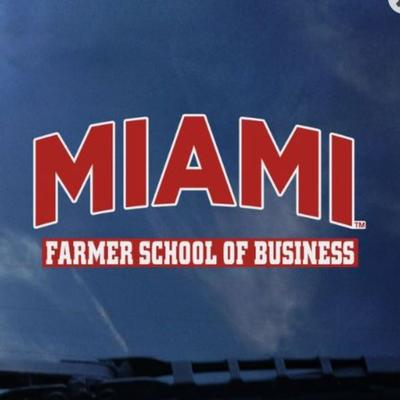 Miami Over Farmer School of Business Decal