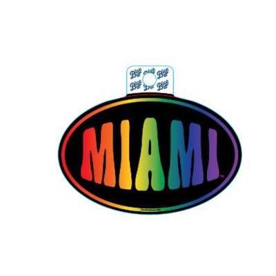 Miami Blue 84 Rainbow Decal