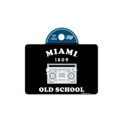 Miami Blue 84 Old School Decal