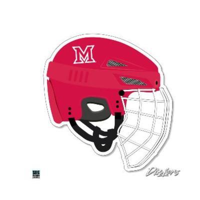 Miami Seasons Design Hockey Helmet Dizzler