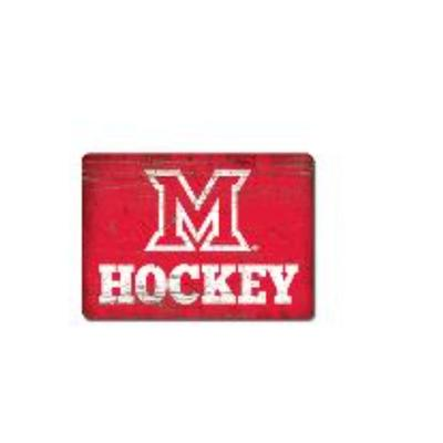 Miami League M Over Hockey Magnet