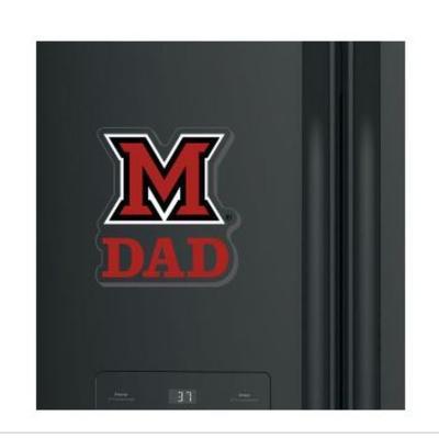 Miami M Over Dad Magnet