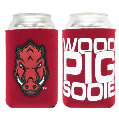 Arkansas Woo Pig Sooie Can Cooler with Patch