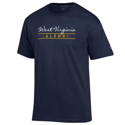 West Virginia Champion Women's Script Bar Alumni Tee