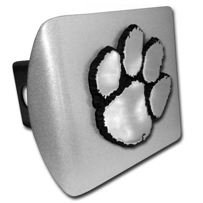 Clemson Chrome Paw Hitch Cover