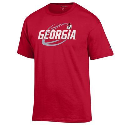 Georgia Champion Men's Football Slant Tee