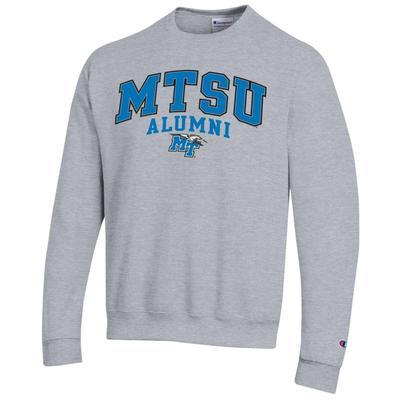 MTSU Champion Arch Alumni Fleece Crew HTHR_GREY