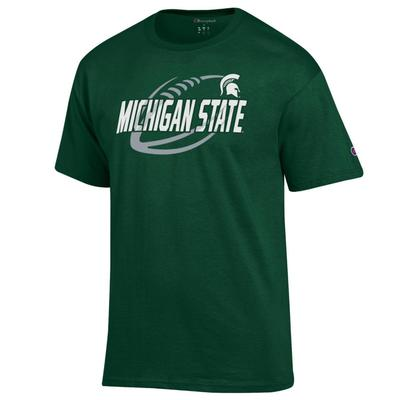 Michigan State Champion Men's Football Slant Tee