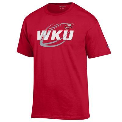 Western Kentucky Champion Football Slant Tee