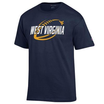 West Virginia Champion Football Slant Tee