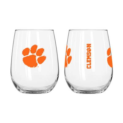 Clemson Frost Curved Beverage Gameday Glass