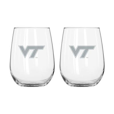 Virginia Tech Frost Curved Beverage Glass