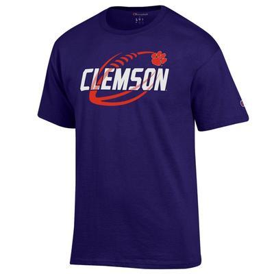 Clemson Champion Football Slant Tee