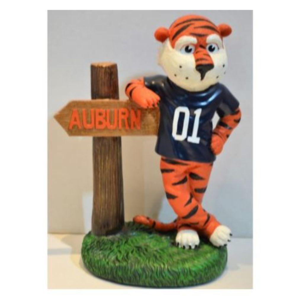 Auburn Painted Mascot Figurine With Sign