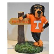 Tennessee Painted Mascot Figurine With Sign